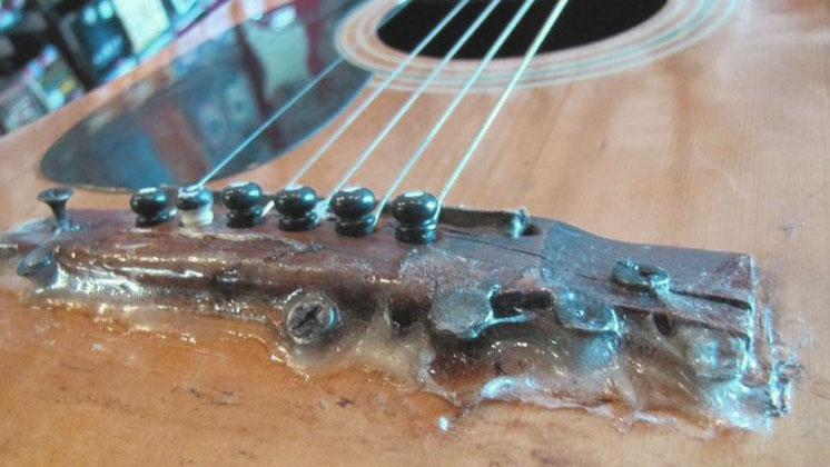 Repairing Acoustic Guitar Bridge